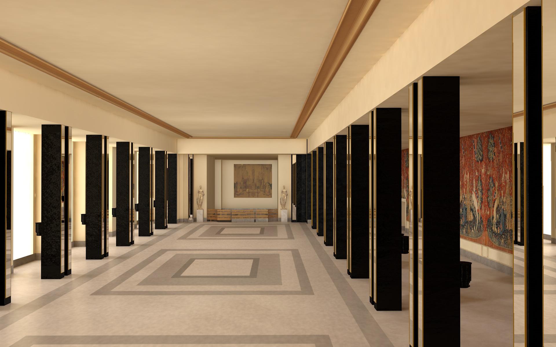 Grand Foyer Chaillot : Palais de chaillot foyer jal concept